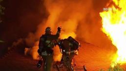 Investigan causas de incendio en Hollywood