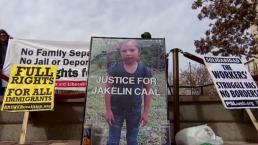 Protesta por muerte de niña Guatemalteca en la frontera