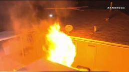 Residentes logran escapar ilesos de incendio