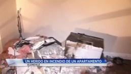Fuego arrasa con apartamento en Glendale