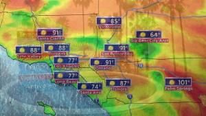 Temperaturas calurosas en el sur de California