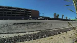 Calles del sur de California en mal estado
