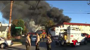 Incendio deja familias sin casa en Pico Rivera