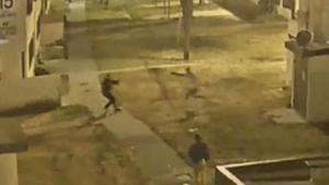 Video muestra tiroteo entre sospechoso y policía