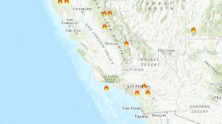 Áreas de incendio forestal amenazadas por tormentas