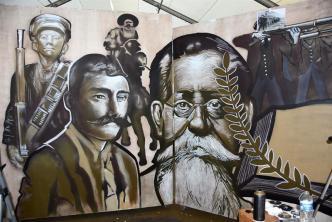 Consulado devela mural de revolucionarios mexicanos en LA