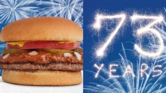 Tommy's celebra 73 años con hamburguesas a 73 centavos