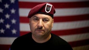 Veterano cruza la frontera para recibir la ciudadanía