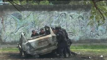 Agentes heridos en explosión de coche bomba