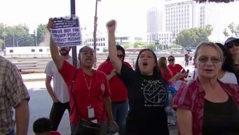 Angelinos protestan la detención de niños separados