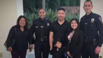 Captado en video: policías salvan vida de niño