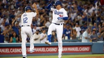 Los Dodgers ganan a Rockies y baten un récord de jonrones