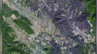 Desde el espacio: la masiva zona que fue arrasada por el incendio Kincade de California
