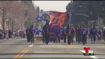 Concurrido el desfile Martin Luther King Jr. en LA