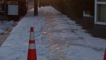 Nieve causa escenario espectacular al  Sur de California