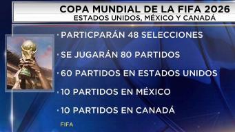 Tres países serán sede de la Copa Mundial 2026