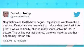 Trump respalda un acuerdo sobre DACA en el Congreso