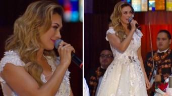 Aracely Arámbula le canta a la Virgen de Guadalupe