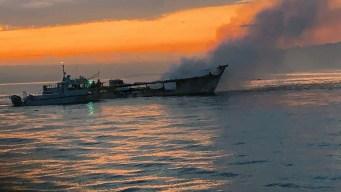 Recuperan cuerpo de última víctima de incendio de barco