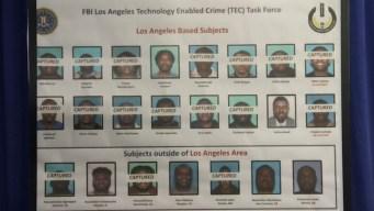 Arresto masivo en LA por fraude cibernético millonario