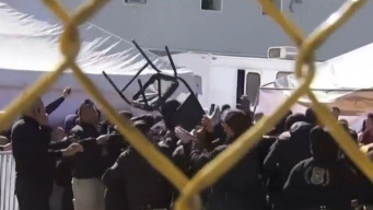 Se desata fuerte protesta en albergue de Piedras Negras
