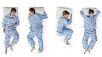 Las posiciones malas y las buenas para dormir