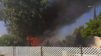 Se desata incendio tras persecución en Moreno Valley