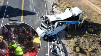 Identifican a víctimas de mortal choque de autobús en Utah