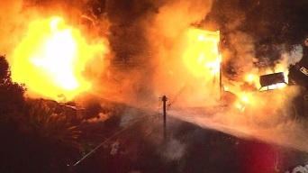 Incendio consumió una casa en La Verne