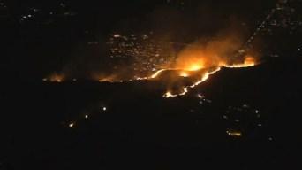 Orden de evacuación levantada por fuego en San Jacinto