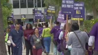 Trabajadores de Kaiser protestan por mejoras
