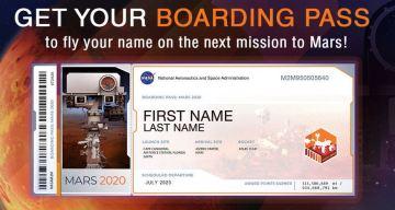 """Furor por misión de NASA que """"envía tu nombre a Marte"""""""