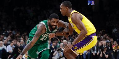 Los Lakers derrotan a los Celtics 128-129
