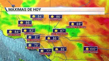 Temperaturas en sube y baja sobre el sur de California