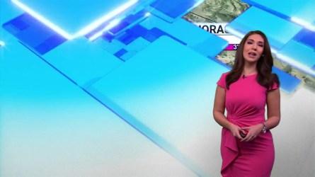 Michelle Trujillo con el segmento del Tiempo