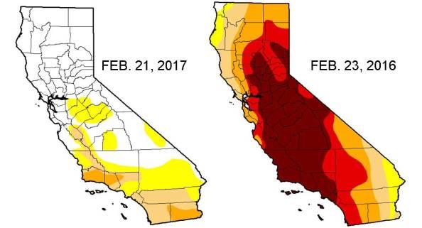 Nivel de sequía en California baja al 4 por ciento