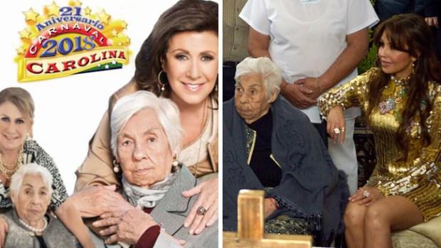 Honrarán a Doña Eva por sus 100 años en Carolina del Norte: ¿irá Thalía?