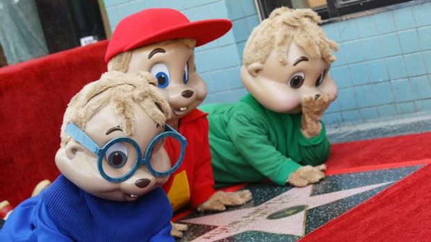 Personajes animados con estrellas en el Paseo de la Fama