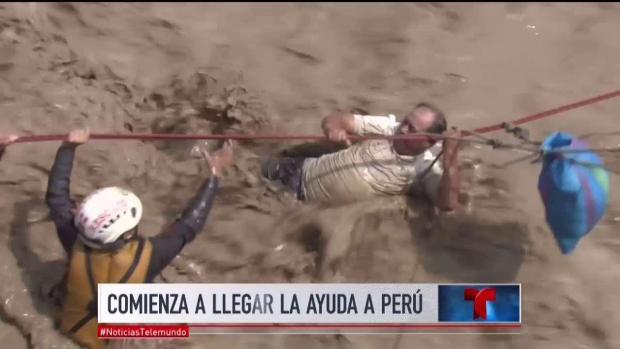 [TLMD - MIA] Impactantes imágenes de deslaves en Perú