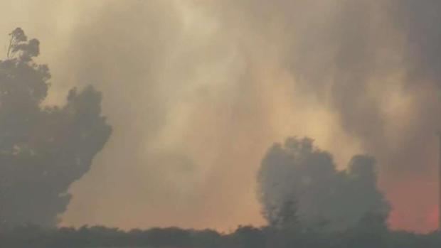 Incendio María sigue ardiendo en área de Santa Paula