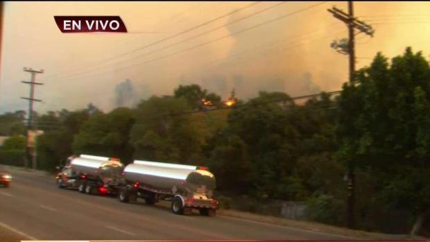 [TLMD - LA] Incendio amenaza área de Brentwood