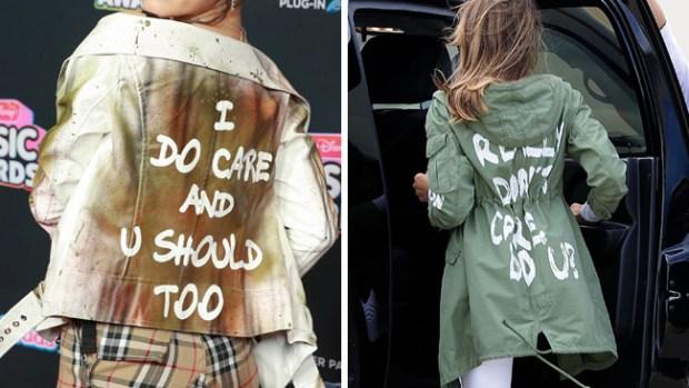 Actriz de 15 años luce chaqueta en respuesta a la utilizada por Melania Trump