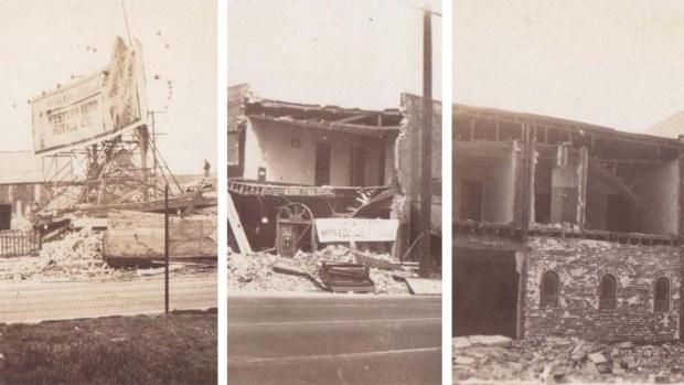 Imágenes tras el terremoto de Long Beach en 1933