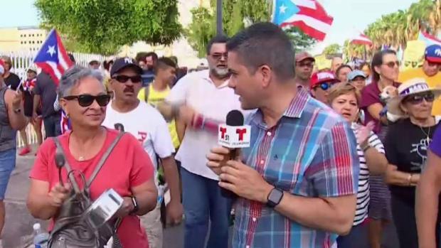 [TLMD - MIA] Marcha multitudinaria en PR pide dimisión de Roselló
