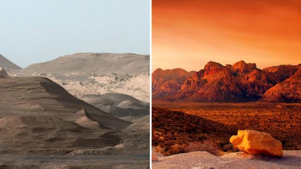 [TLMD - LV] ¿Cuál es cuál? Las Vegas y Marte lado a lado
