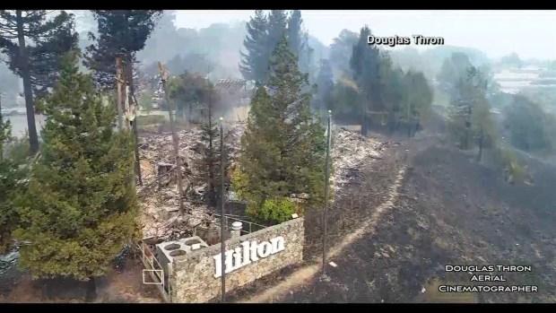 [TLMD - LA] Imágenes del incendio en el norte de California desde de los ojos de un drone.