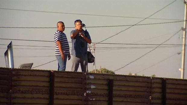Video de los prototipos del muro en la frontera
