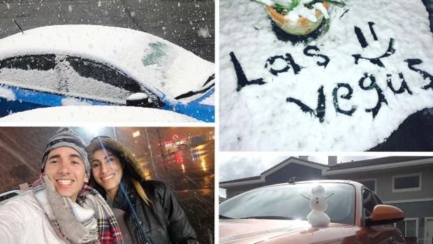 Nevada en Nevada: mira las fotos alrededor de Las Vegas de la nieve