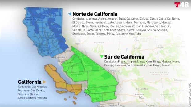 [TLMD - Bahia] Así quedaría California si es dividido en 3 estados