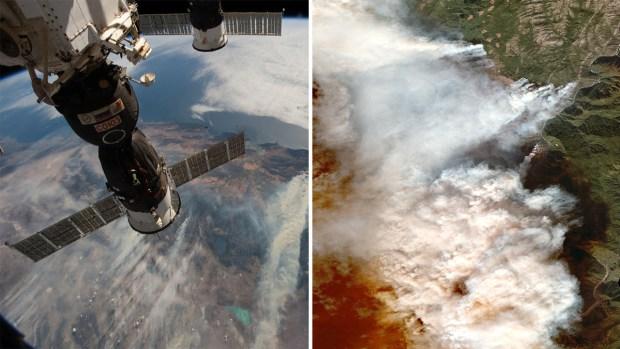 Las dramáticas imágenes de incendios forestales tomadas desde el espacio